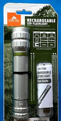 Ozark Trail Flashlight 1250 Lumen Rechargeable 2 Mode USB Charged LED Power!