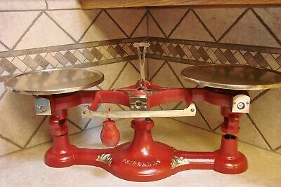 Superb Rare Antique No.0 Fairbanks Scale Restored Scales Vintage Brass Plates