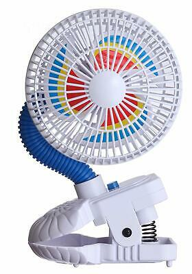 Kel-Gar Battery Operated Pinwheel Fan Attaches to Strollers & Car Seats - 75828