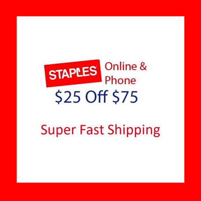 🌟 STAPLES COUPON 🌟 $25 off $75 ONLINE 🌟 EXPIRE 3/24 🌟  FAST DELIVERY