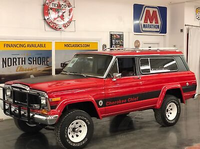 1979 Cherokee -CHIEF WAGON-4x4-ARIZONA TRUCK-RESTORED-VIDEO Red Jeep Cherokee with 84,146 Miles available now!