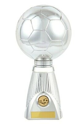 Football Trophies Silver Planet Football Deluxe Ball Trophy FREE Engraving