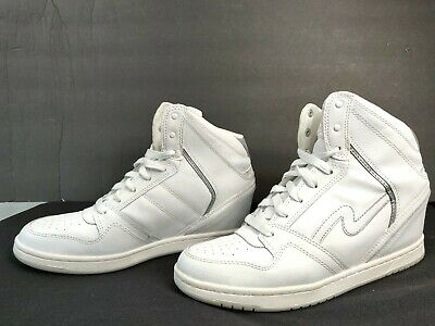 7214e4a3c7002 Skechers OG 80 Swag Women's White High Top Wedge Sneaker Size US 10 / EU 40