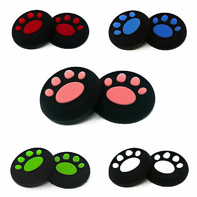 1 x Pair Of Paw Print Nintendo Switch Controller Thumb Grips Pads Analog Cover