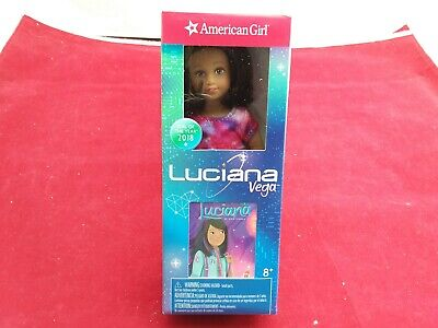 American Girl Mini Luciana Vega Doll Girl of the Year 2018 Plus Mini Book- NEW