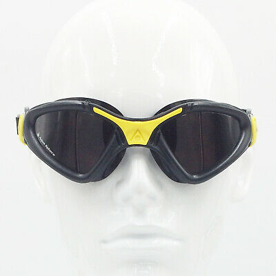 Aqua Sphere Kayenne Polarized UV Anti-Fog Swimming Goggles - Black/Yellow