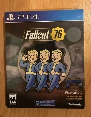 Fallout 76 Walmart Edition with SteelBook & Controller Skin! PlayStation 4 ps4