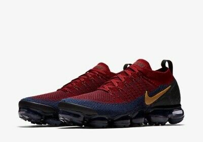 Nike Air Vapormax Flyknit 2 Olympic Team Red Wheat Obsidian 942842-604 Size 11