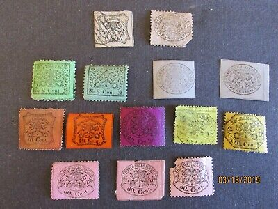 Collection of Old Papal Roman Stamps used