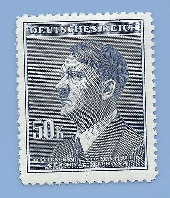 Nazi Germany Third Reich Nazi B&M Adolf Hitler 50k stamp WW2 ERA