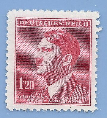 Nazi Germany Third Reich Nazi B&M Adolf Hitler 1.20 stamp MNH WW2 ERA