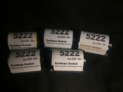 lot 5 Kodak Eastman Double-X 5222 Top Quality Black and White Film packing new