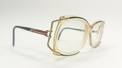 Vintage Cazal 179 Eyeglasses - Model 179 Col. 204 - Black,Gold,Red,Clear Hip Hop