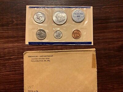 1960 P US Mint Silver Proof Coin Set Philadelphia uncirculated with envelope COA