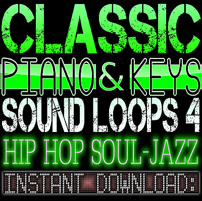 PIANO,KEYS,RHODES,SOUNDS WAV LOOP SAMPLES 4 Hip Hop Soul Jazz Akai Reason Studio