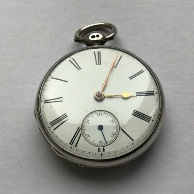 1837 solid silver Fusee open face pocket watch good condition Working