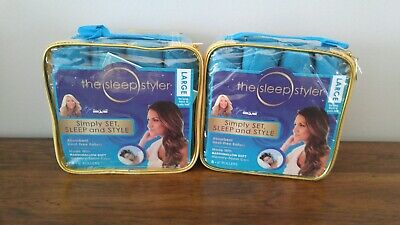 """Two (2) The Sleep Styler Large, 8 count 6"""" Memory Foam Rollers Shark Tank"""