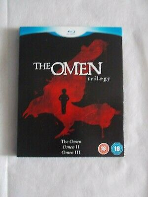 The Omen Trilogy The Omen/damian Omen2/omen 3 The Final Conflict  Blu Ray 3 Disc