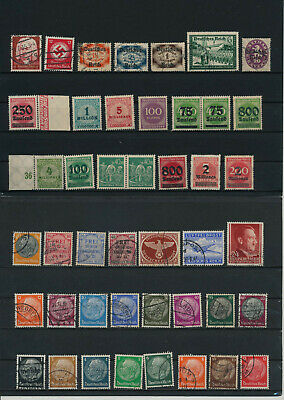 Germany, Deutsches Reich, Nazi, liquidation collection, stamps, Lot,used (HB 4)