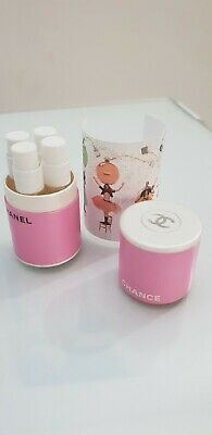 CHANCE CHANEL BOITE COLLECTOR RONDE 4TUBES/4 PARFUMS différent  EXCLU