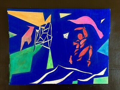 """Soccer Match"" Abstract Painting By Erik Sulander In Glossy Photo Print 9x12"