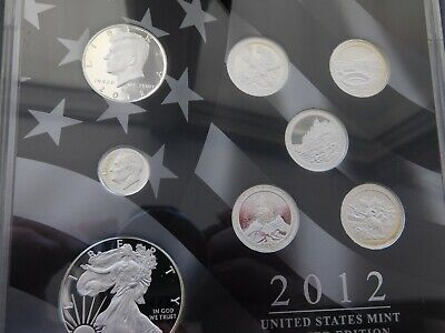 2012  Limited Edition Silver Proof Set  Mint Packaging & COA