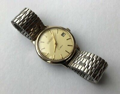 Sekonda Vintage Mens 1970s 17j Gold Plated wristwatch Lovely Condition