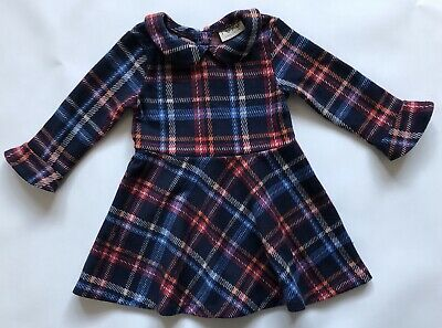 Next Girls Tartan Dress 12-18months