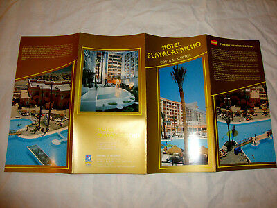 Hotel Playacapricho Costa De Almeria Spain. Sales Brochure