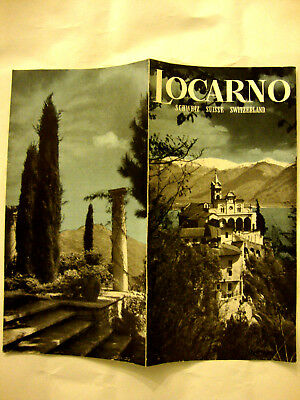 BROCHURE LOGARNO SUISSE SWITZERLAND. Dépliant illustrée