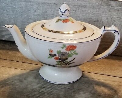 Antique Teapot England W.H.Grindley & Co. Stoke-on-Trent Earthenware c.1914-1925