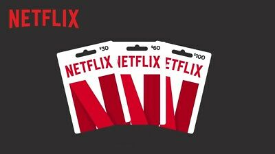 ⚡15$ / 30$ / $60 - Netflix Gift Cards⚡[50% Off] [Usa - Outside Usa Check Desc]