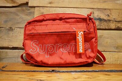 a05bca113c9 SUPREME NEW YORK Red Shoulder Bag FW 18 Week 1 NWT Authentic ...