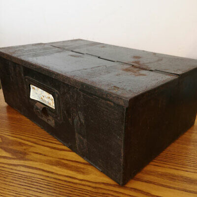 INDUSTRIAL GREEN METAL Storage Box Desk Tidy In-Tray Letter Storage Intray