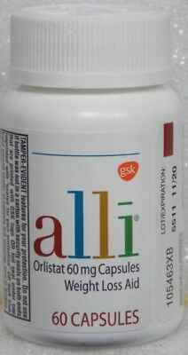 Alli Orlistat 60 mg Weight Loss Aid Diet Supplement - 60 Capsules    New Sealed