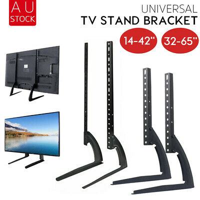"Universal Table Top TV Stand Leg Mount LED LCD Flat TV Screen 14-65"" Bracket AU"
