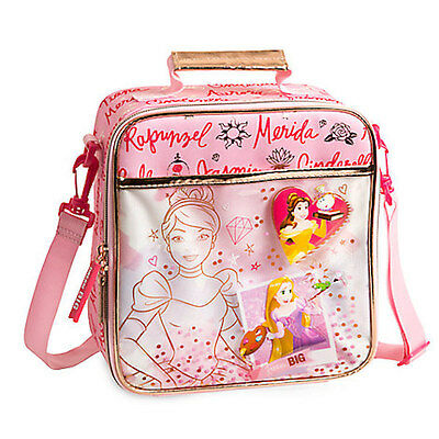 e863f83ef6e NWT Disney Store Princess Belle cinderella Rapunzel Lunch Tote Box Bag  School