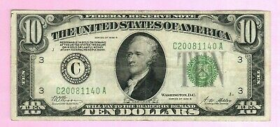 1928B $10 TEN Dollar USA Federal Reserve Note Bill Currency FRN Green Seal