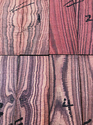 Mexican kingwood (rosewood) bookmatched knife scale / knife handle sets 150x40mm