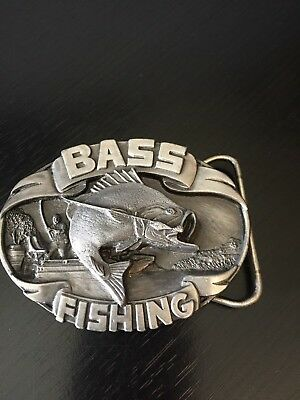 Bass Fishing Belt Buckle Siskiyou 1988 Numbered Dimensional and Detailed