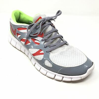 info for a6896 3cf4a Men s Nike ID Free Run 2 Running Shoes Sneakers Size 12.5M Gray White Red K2