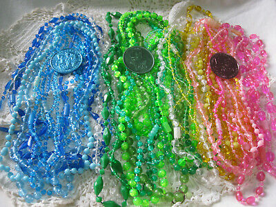 #A-Vintage New Orleans-Mardi Gras beads 1960's carnival lot 3 dzn + doubloons