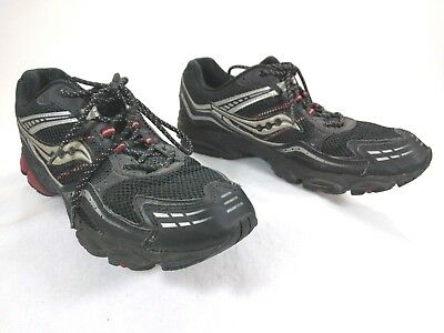 ad317af411a2 MENS SAUCONY GRID Ramble Tr Black Red Running Shoes Size 13M ...