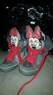Next Disney Minnie Mouse High Top Trainers/boots Size 5 Infants