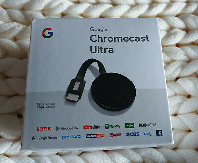 GOOGLE Chromecast Ultra 4K HDMI Media Streamer Streaming Player NEW! SEALED!