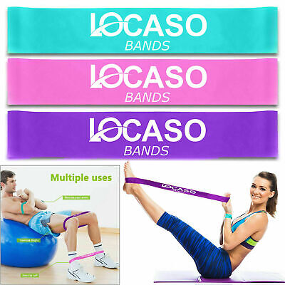 Resistance Loop Bands Elastic Band Home Workout Pilates Exercise Fitness Yoga UK