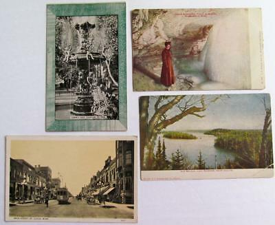 Lot 4 Vintage 1908 Minnesota Postcards St.Cloud/Duluth/St.Paul/Minneapolis #52-d