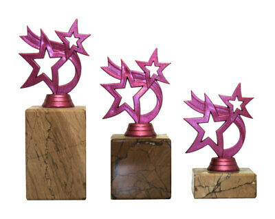 Personalised Pink Micro Star Dance Trophy Multi Award Engraved
