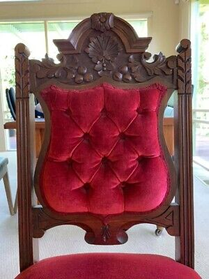 Antique Edwardian Dining Chairs x 8