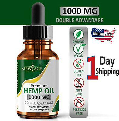 Hemp Oil Extract For Pain Relief Anti Anxiety Stress Sleep Natural 1000Mg..